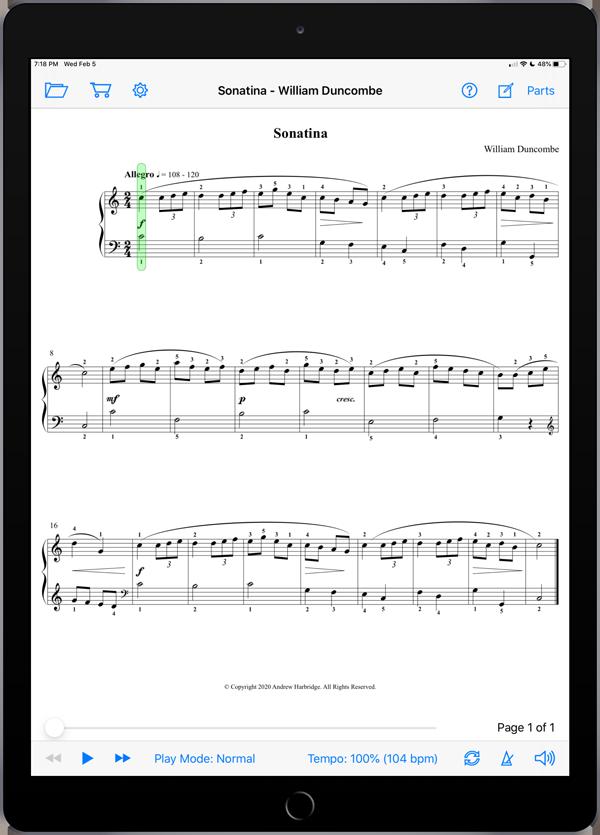 Sonatina by William Duncombe