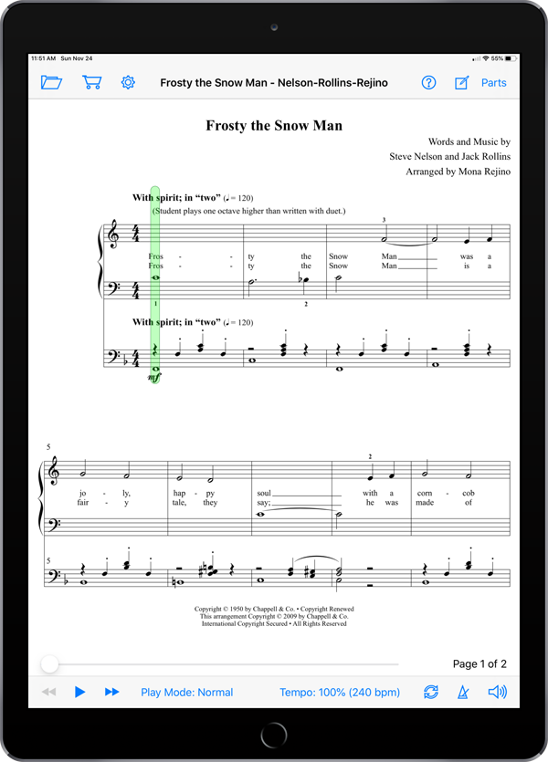 More Christmas Piano Solos Level 1