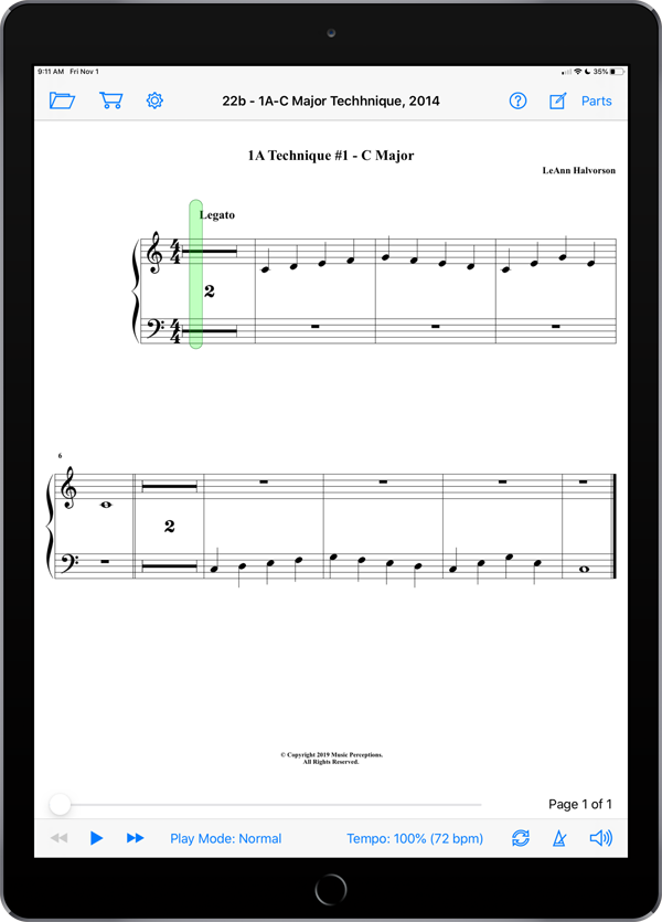 Music Study Sheets Level 1A