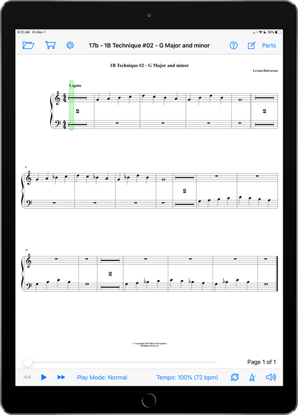 Music Study Sheets Level 1B