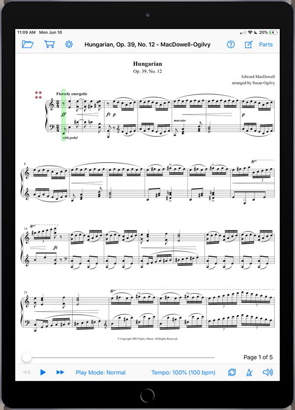 Hungarian, Op. 39, No. 12 by MacDowell-Ogilvy