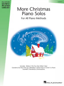 More Christmas Piano Solos Level 4 Cover