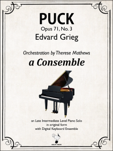 Puck, Op. 71, No. 3 by Grieg-Mathews-Cover