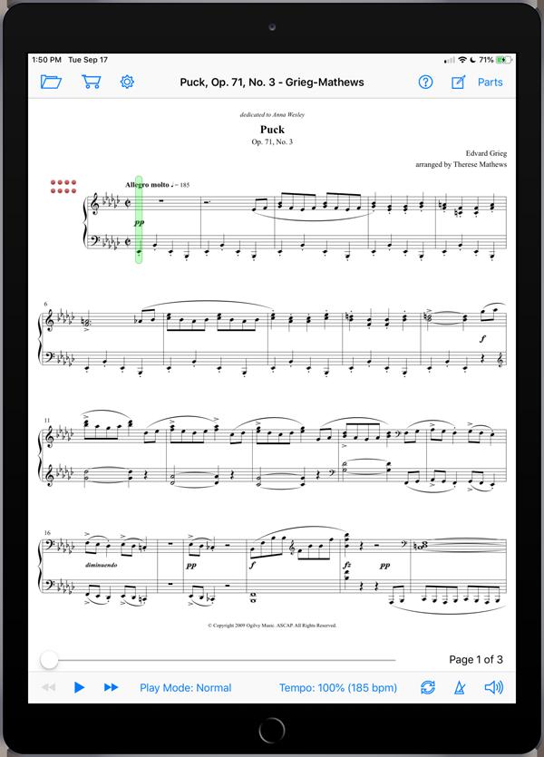 Puck, Op. 71, No. 3 by Grieg-Mathews