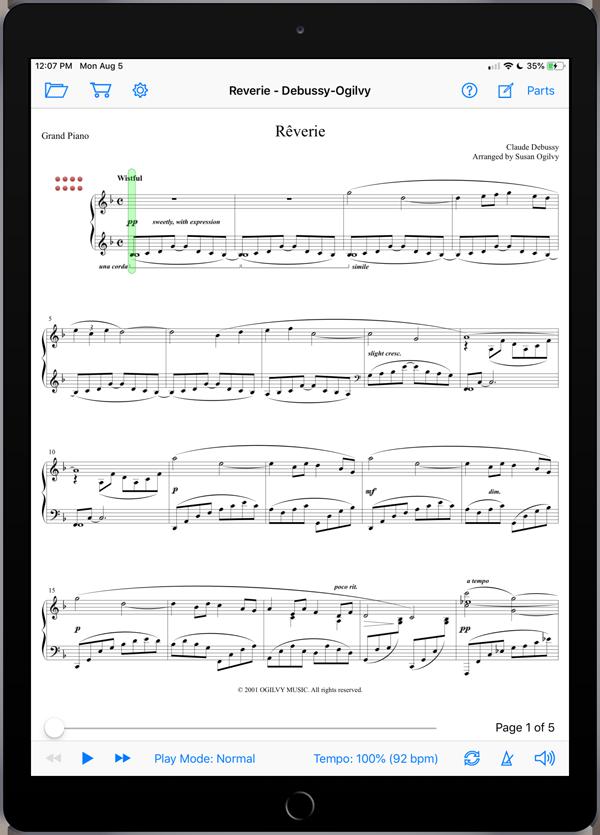 Reverie by Debussy-Ogilvy
