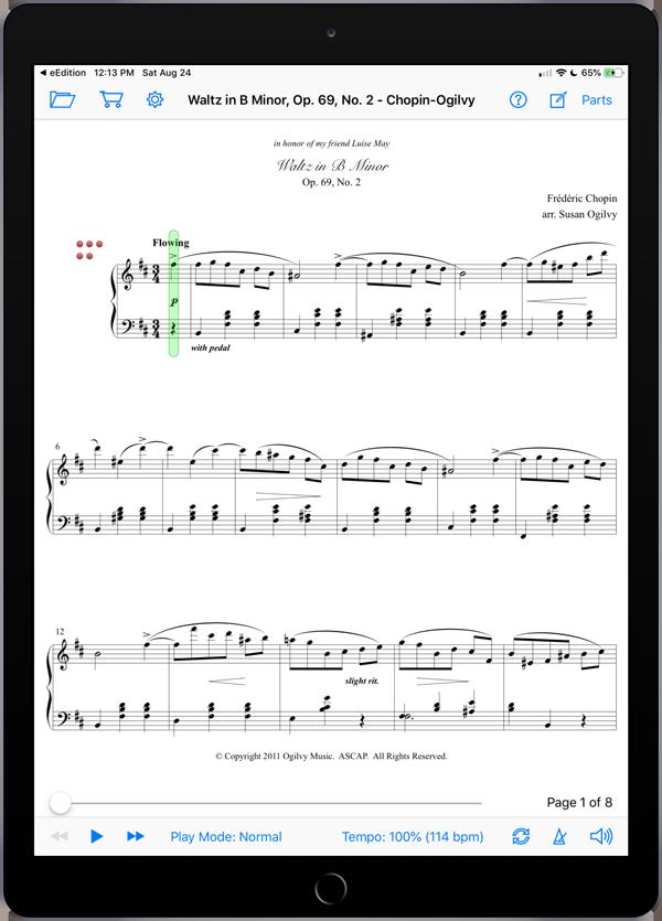 Waltz in B Minor, Op. 69, No. 2 by Chopin-Ogilvy