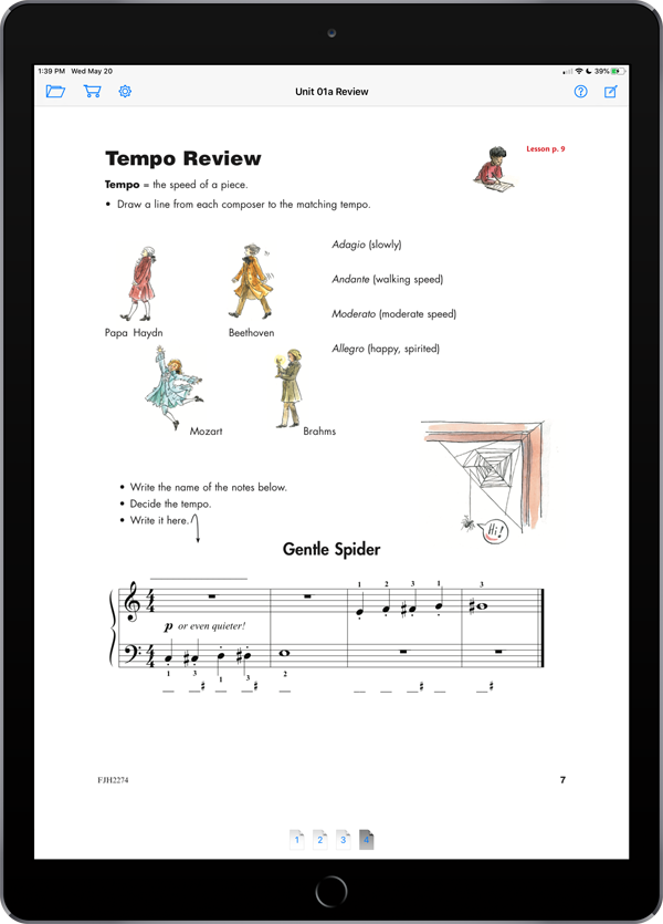 Succeeding at the Piano – Theory and Activity Book – Grade 1B