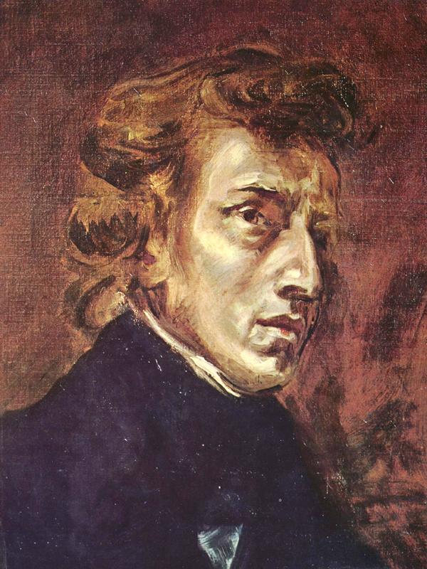 Frédéric Chopin Portrait by Eugène Delacroix