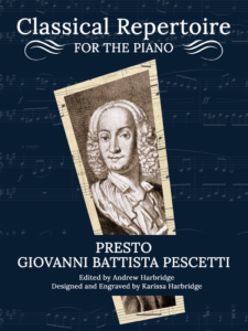 Sonata in C Minor III. Presto by Giovanni Baptista Pescetti Cover