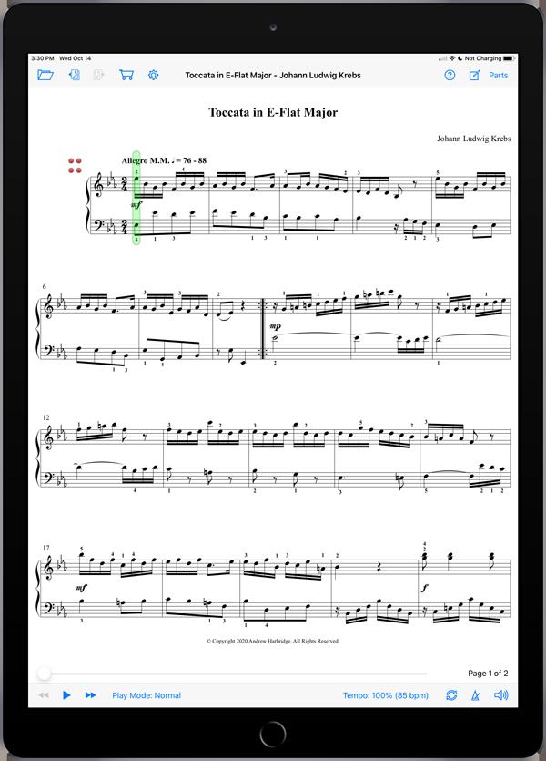 Toccata in E-Flat Major by Johann Ludwig Krebs