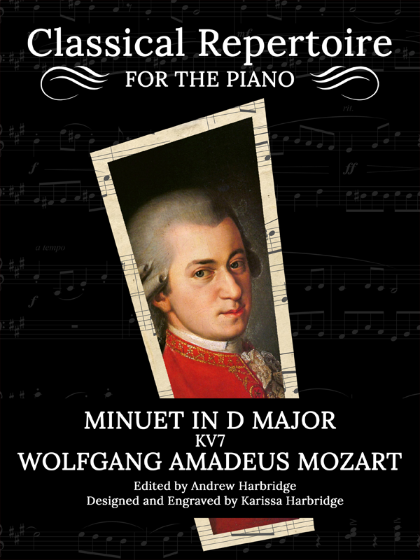 Minuet in D Major, KV7 by Wolfgang Amadeus Mozart Cover