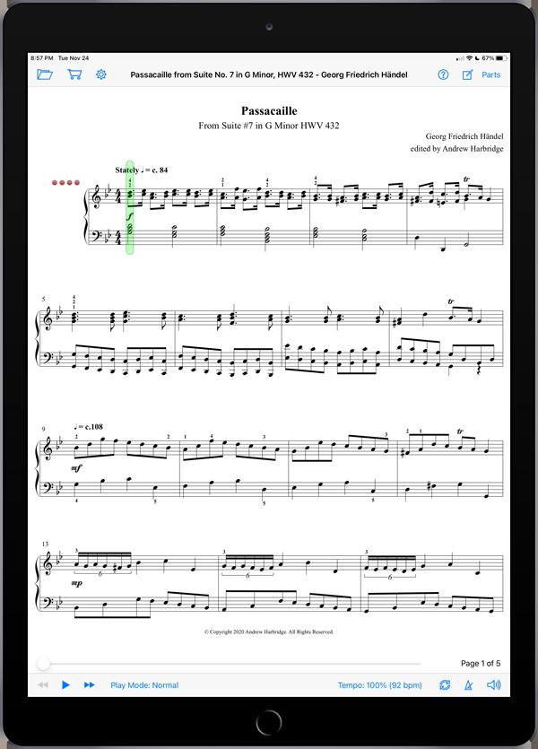 Passacaille from Suite No. 7 in G Minor, HWV 432 by Georg Friedrich Händel