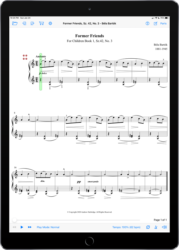 Essential Repertoire for the Piano ONE