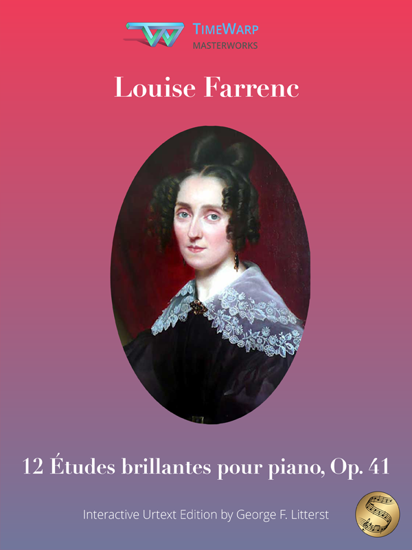12 Études brillantes pour piano, Op. 41 by Louise Farrenc Cover