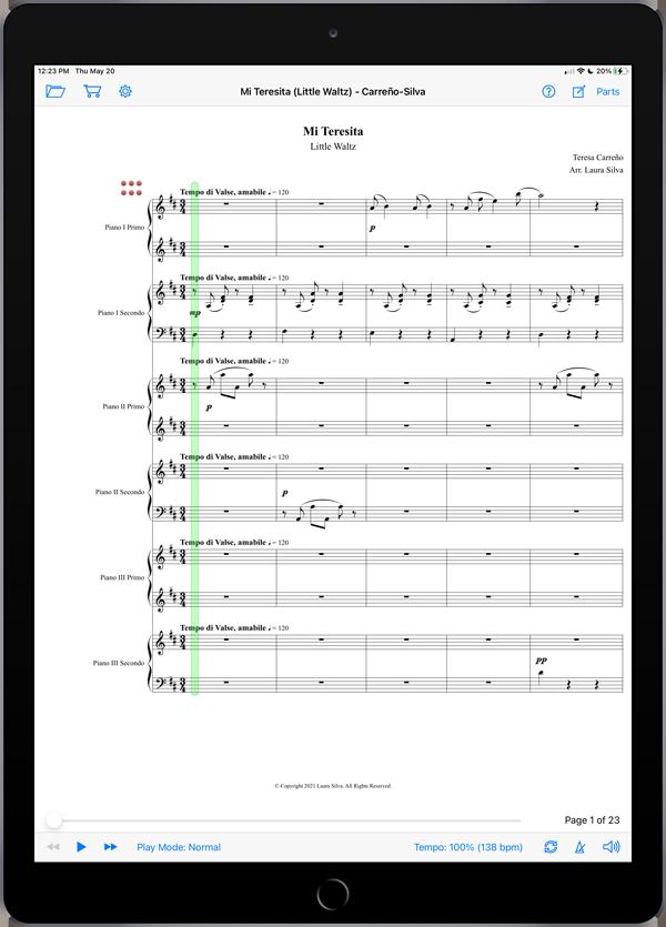 Mi Teresita (Little Waltz) by Carreño-Silva