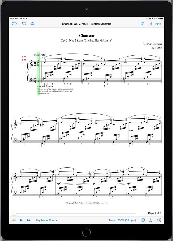Chanson, Op. 2, No. 2 by Bedřich Smetana