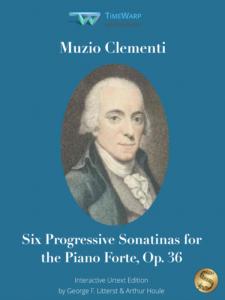 Six Progressive Sonatinas for the Piano Forte, Op. 36 by Muzio Clementi Cover