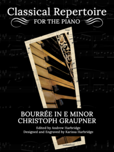 Bourree in E Minor by Christoph Graupner Cover